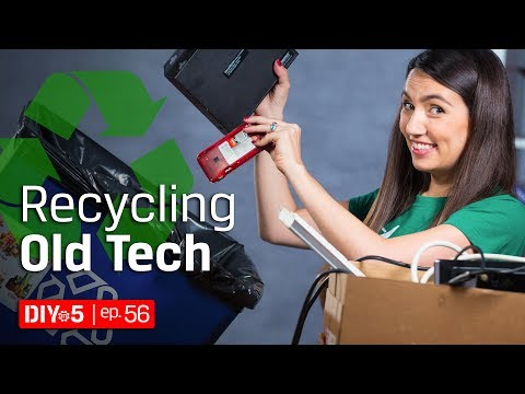 Socially Responsible Ways to Dispose of Electronics ♻ Electronic Recycling Tips - DIY in 5 Ep 56