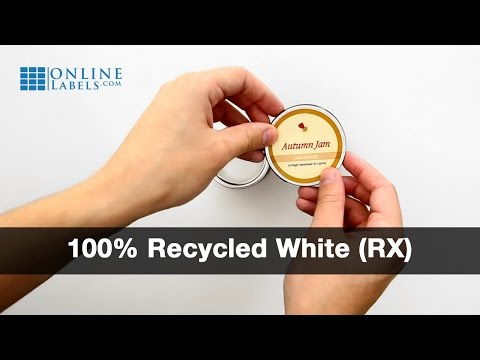 100% Recycled White Matte - See Features and Uses