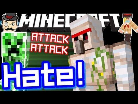 Minecraft IRON GOLEMS HATE CREEPERS!
