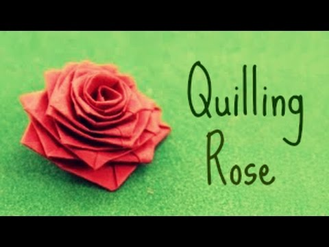 How to make a rose with a paper stripe (Quilling Rose)