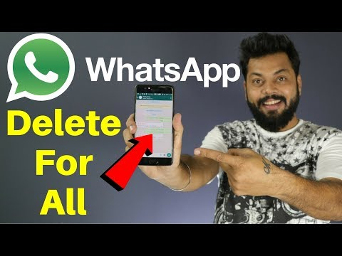 WHATSAPP MESSAGE DELETE FOR EVERYONE - WOW!!