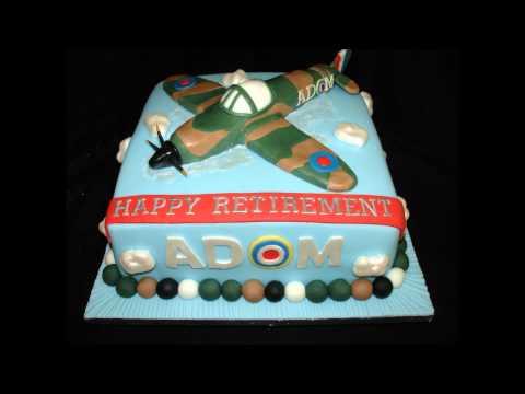 Spitfire Plane Retirement Fondant Cake