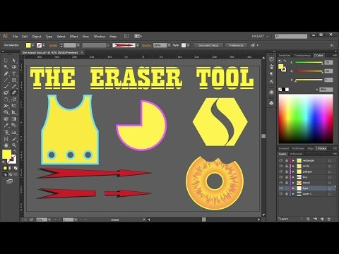 How to Cut a Shape in Adobe Illustrator - the Eraser Tool