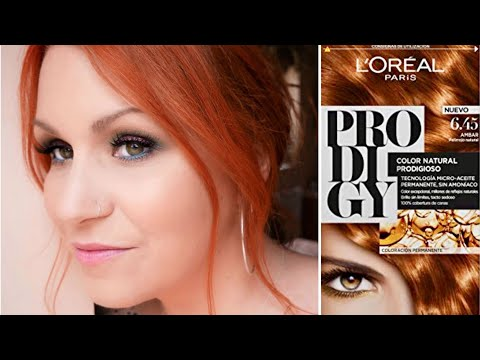 L'Oreal Paris Prodigy Amber 6.45 // Dying My Hair Copper At Home