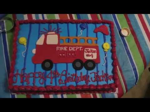 How to make a Fire Truck Cake by
