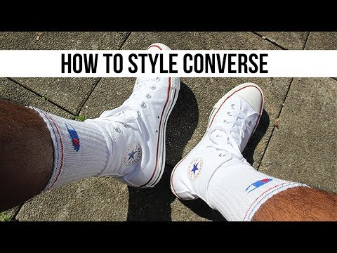Streetwear Converse Chuck Taylor High (white) || Lookbook 2017