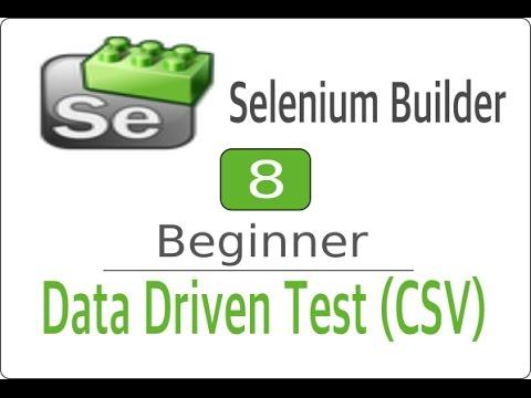 Selenium Builder 8 - CSV File -Data Driven Testing