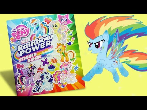 MLP Activity Book 'Rainbow Power' My little pony sticker book