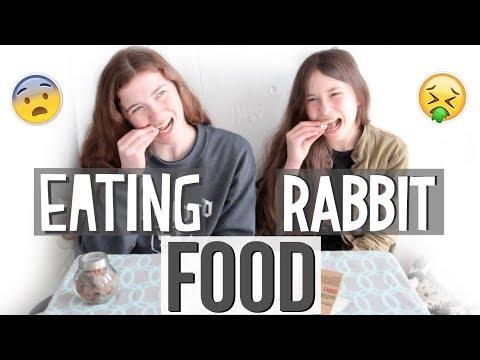 Rabbit Treat Challenge - Eating Rabbit Food!