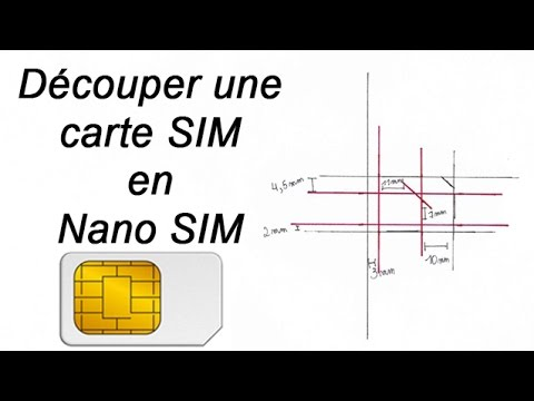 ✄ Découper carte SIM en NANO Sim - tutoriel - iPhone 5 - 5S - 6 - 6 Plus - 7 - 8 - X - XR - XS