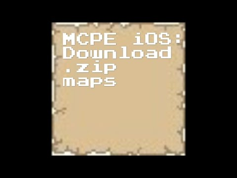 MCPE iOS: How to download any map, no jailbreak, no computer.