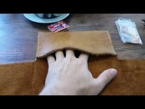 How to make a pipe roll tobacco pouch