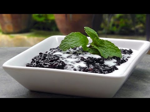 Indonesian Black Sticky Rice Pudding - Vegan Vegetarian Recipe