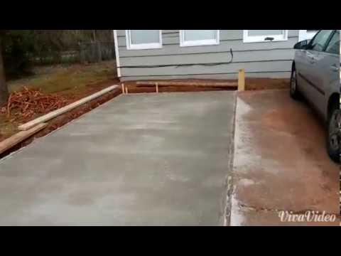 Part 2 How to pour your own concrete PARKING LOT.