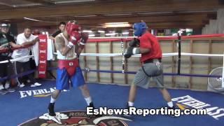 Mikey Garcia vs Marcos Maidana Sparring - esnews boxing
