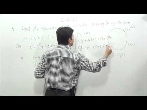CIRCLE-3 How to find equation of circle when three point are given