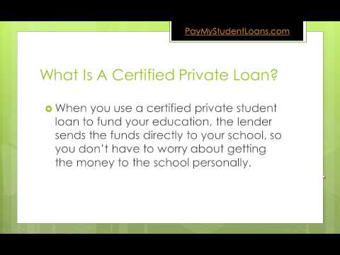 4 Advantages of Certified Private Student Loans