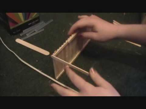 how to make a Breyer barn out of popsicle sticks *part 1*