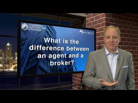 What is the difference between an agent and a broker?