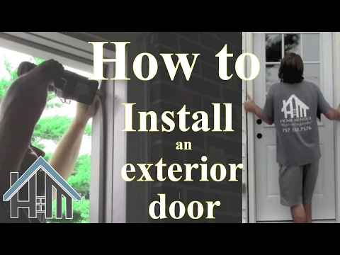 How to install an exterior door and jamb. Replace. Easy! The Home Mender.