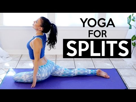 30 Minute Splits Stretch & Flexibility Yoga Workout For Beginners, How To Tutorial Routine