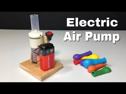 How to Make an Electric Air Pump for Balloons - Easy to Build
