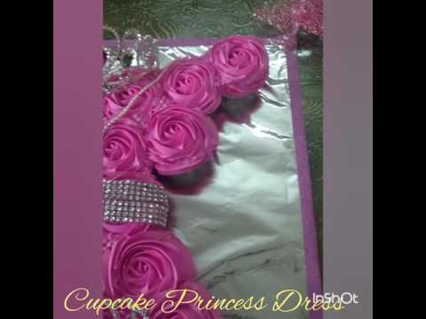 Princess Dress Pull Apart Cupcakes Cake made for my daughter bday