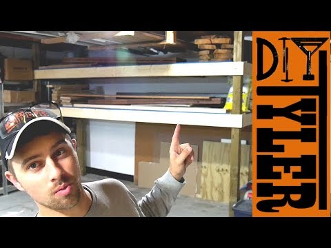 DIY Wooden Pallet Racking