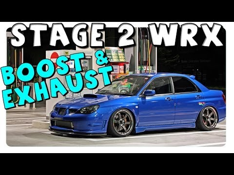 Stage 2 WRX Exhaust & Turbo Spool Sound - Boost at Night