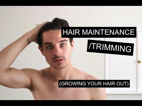 Maintaining/Trimming Men's Hair While Growing It Out | Men's Long Hair