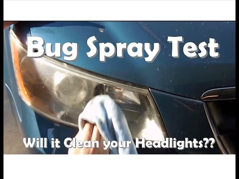 Bug Spray Test: Will it Clean your Headlights? Part 1 of 2