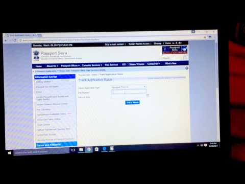 How to track passport application status (India)?