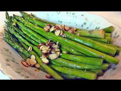Betty's Sauteed Asparagus with Toasted Almond Slices  --  Easter