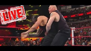 #RAW WWE Brock Lesnar WRESTLES Cuffed Roman Reigns Lesnar And Roman Reigns Return To RAW