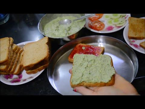 How To Make Green Chutney Sandwich in Marathi