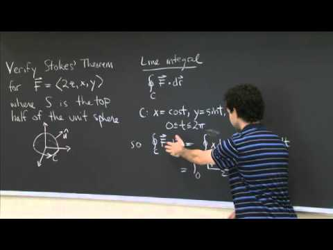 Stokes' Theorem | MIT 18.02SC Multivariable Calculus, Fall 2010