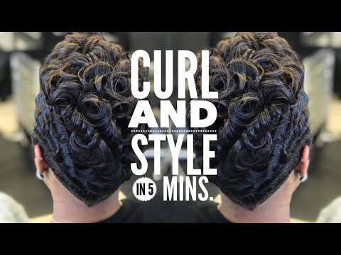 5 MIN. STEP BY STEP HOW TO CURL SHORT HAIR  @CRAZYABOUTANGEL