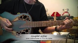 N° 339 - tuto guitare accoustique - l'envie - Johnny Hallyday