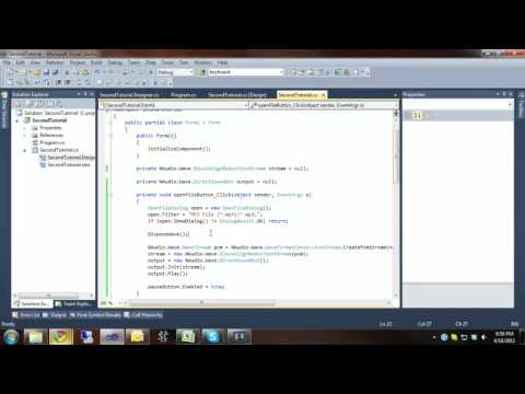 C# Audio Tutorial 2 - MP3/WAV File with NAudio