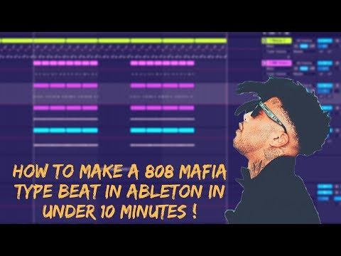 How To Make A 808 Mafia Type Beat In Ableton In Under 10 Minutes ( Tutorial ) SIZZLE, TM88 TYPE BEAT