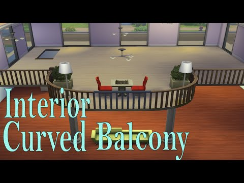 The Sims 4-Tutorial interior curved balcony|SimsPinky