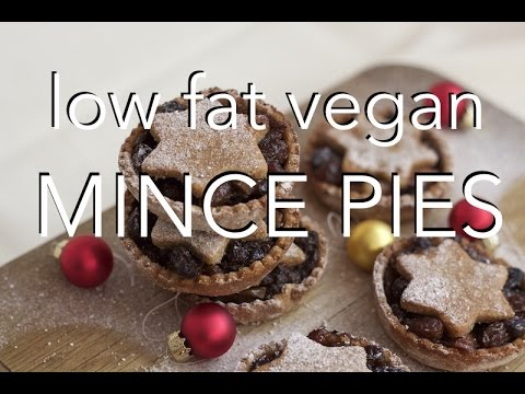 VEGAN MINCE PIES - fat free with gluten free options