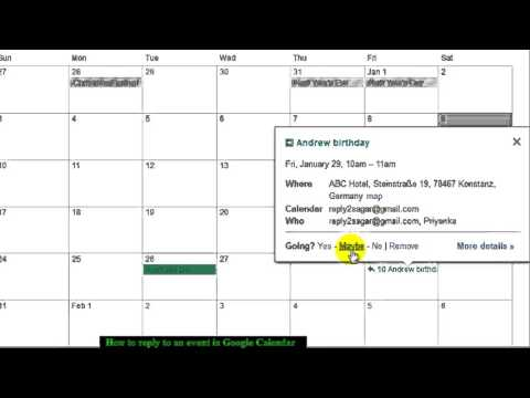 How to accept invitation in Google calendar
