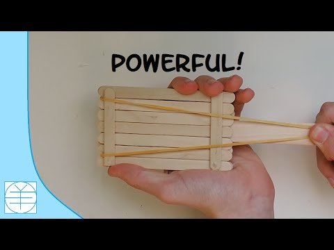 How to Make A Popsicle Stick Shooter. (Full HD)