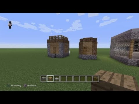 Minecraft How to build: Npc Village Butchers Shop and library