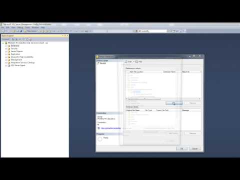 How to import(Restore) an mdf file into SQL Server
