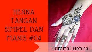 Henna Tangan Simple Dan Manis 04