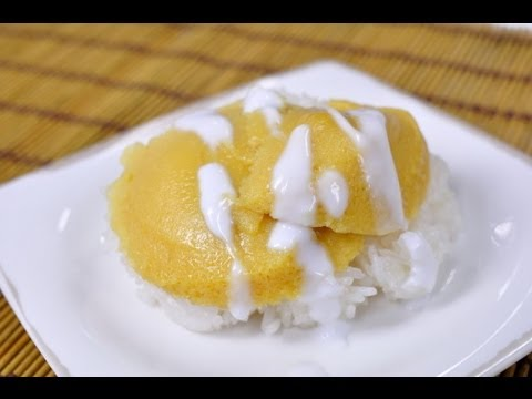 [Thai Food] Sweet Sticky Rice with Egg Custard (Khao Nieaw Sang Ka Ya)