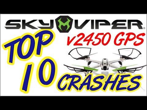 Sky Viper V2450 GPS Drone Top Ten Crash Compilation