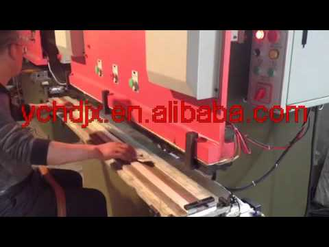 vedios for hydraulic leather belt embossing machine